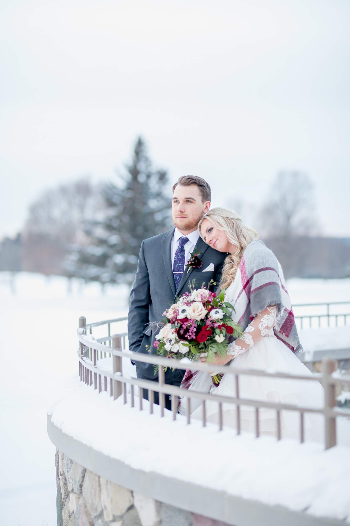 Rockford Michigan, Winter Wedding, Christina Leskovar Photography, Blythfield Country Club-59